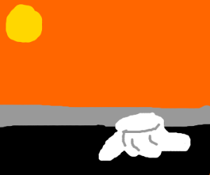 the sun melting marshemellows