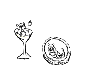 dratini martini + caterpie pie