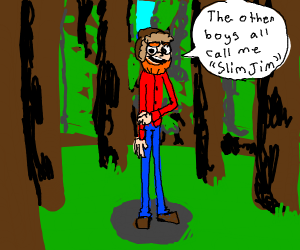 Slender man in the woods