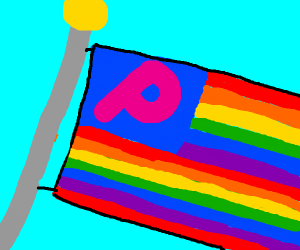 Usa flag but with pride color