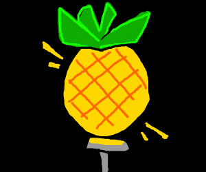 Pineapple as lightbulb