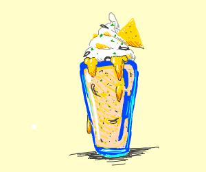 It's a nacho cheese milkshake!