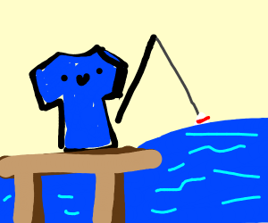Fishing with a Shirt