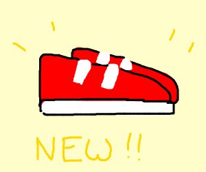 new red shoes