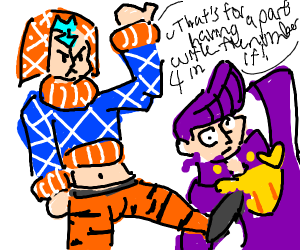Mista takes his hate for 4 out on Josuke