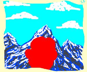 Irishman stares at the alps