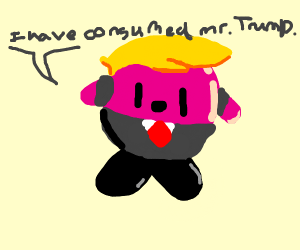 Kirby eats Trump and gains his power