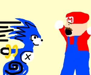 sonic X Mario thing