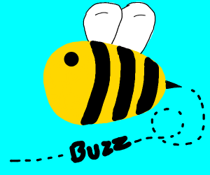buzz goes the cute bee