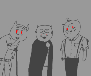 Old cat men stare into your soul