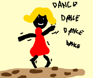 lady dancing on a cookie