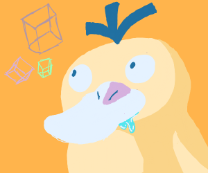 psyduck craves the cubes