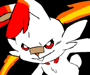 Scorbunny grins confidently