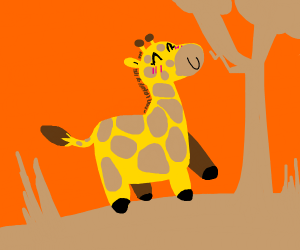 Cute blushing giraffe