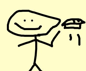 guy throwing pie