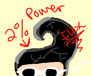 elvis only using 2 percent of his power
