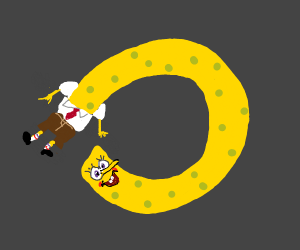 Spongebob making a circle