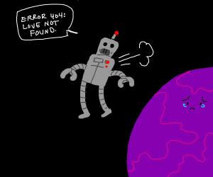 robot harshly declines purple planet