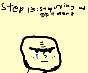 step 13, cry some more