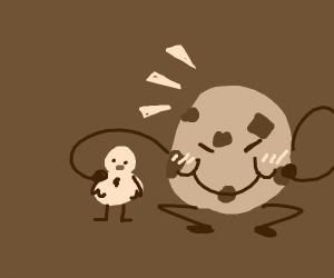 cookie is proud of his duck