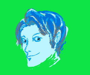 dark blue hair guy