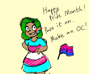 Happy Pride! Pass it on! Make an oc!