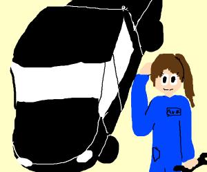 female car mechanic
