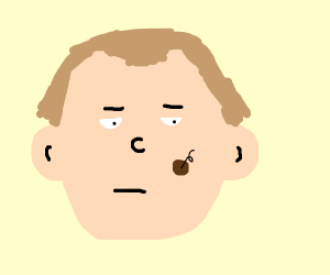 Dude with a giant mole