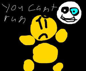 scared yellow man