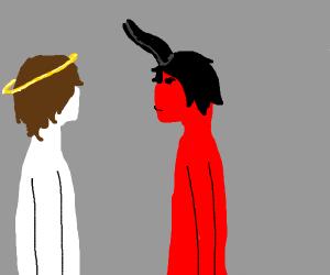 Truse between god and satan