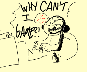 gamer guy cant game