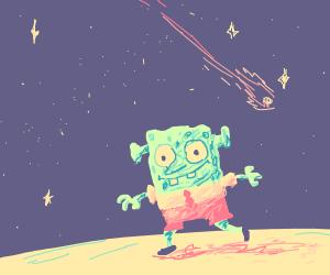 spongebob ogre at night