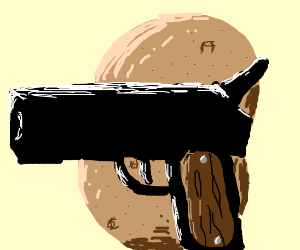 OwO Potato has a gun