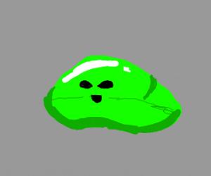 Green alien blob