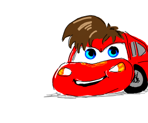 lightning mcqueen with hair