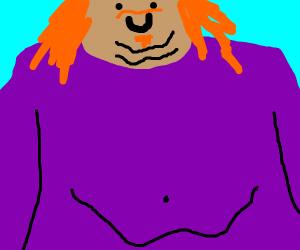 Redhead in a purple shirt