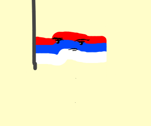 upside down russian flag giving you'the look'