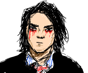 gerard way with bleeding eyes