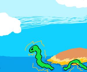 An eel guarding his island