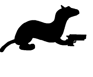 ferret with gun
