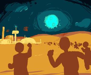 Shadow people colonize mars