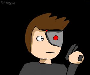 Cyborg man gets sniped