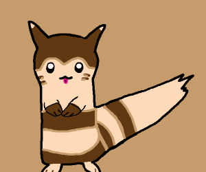 furret from pokemon does a blep