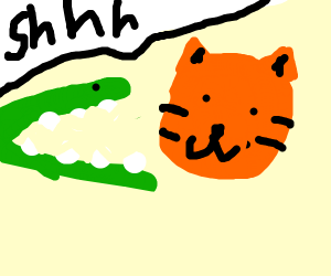 alligator silenced by tiger