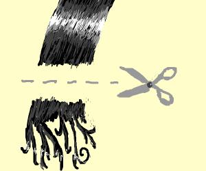 Trimming split ends
