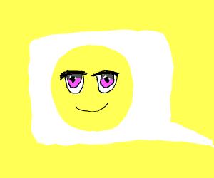 Aos emoji (little yellow guy w/ anime eyes
