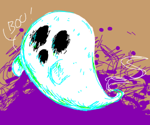 its a spooky ghost