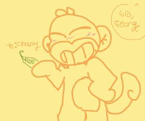Monkey George up to good again