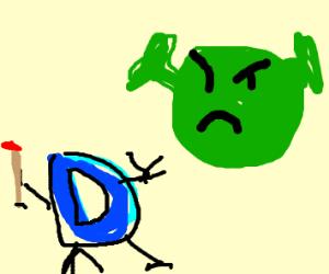 Drawception D gets punished by Shrek