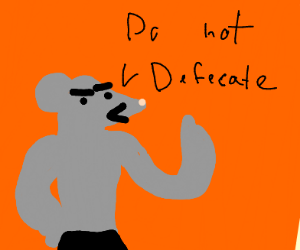 Anthro Rat Commands You To Not Defecate